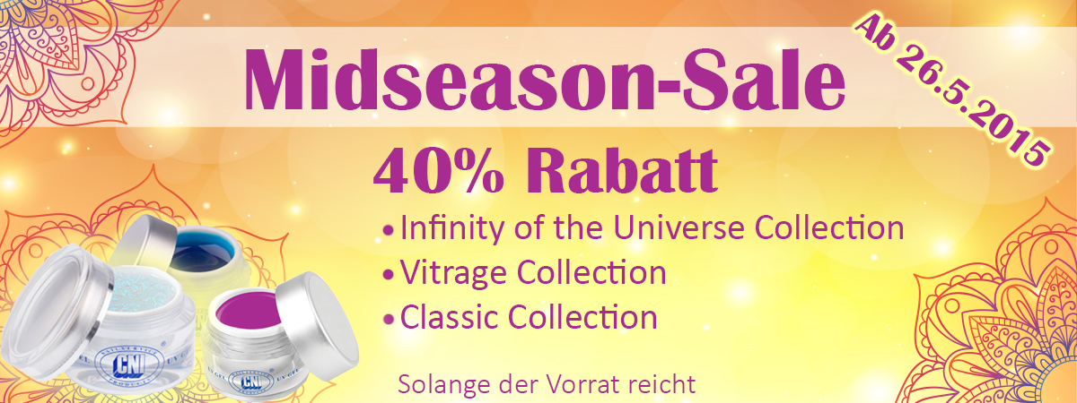 Midseason-Sale, Mid Season Sale, Classic Collection, Infinity of the Universe, Vitrage Gele
