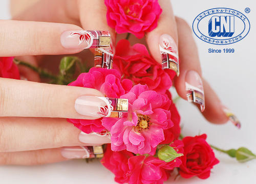 CNI, Naildesign, Rosen, Nagelmodellage, Nail Art